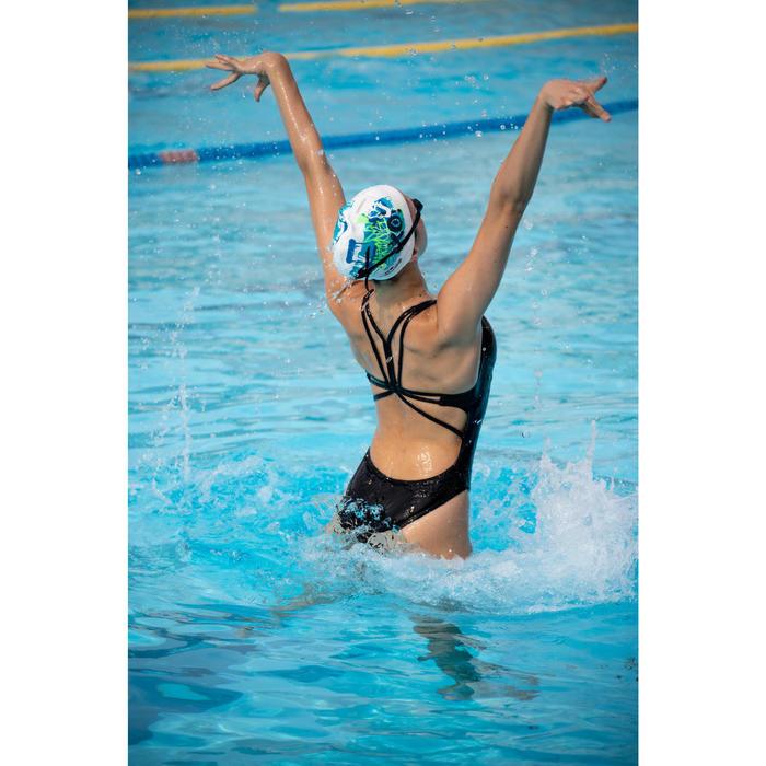 Damesbadpak voor synchroonzwemmen zwart.