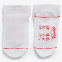 Chaussettes 100 LOW LOT 2 blanc/ROSE