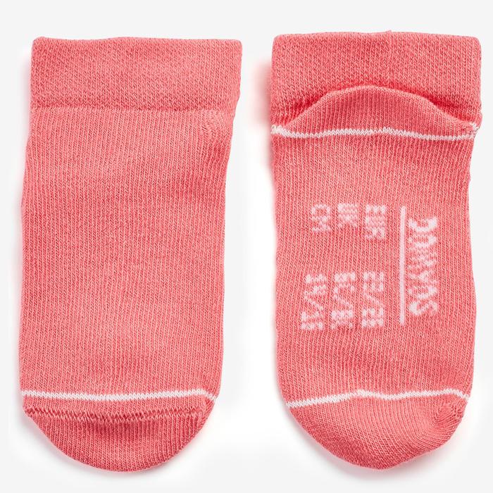 Sokken voor kleutergym 100 low set van 2 paar wit/roze