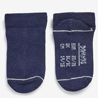 100 Low Gym Socks Twin Pack White/Navy