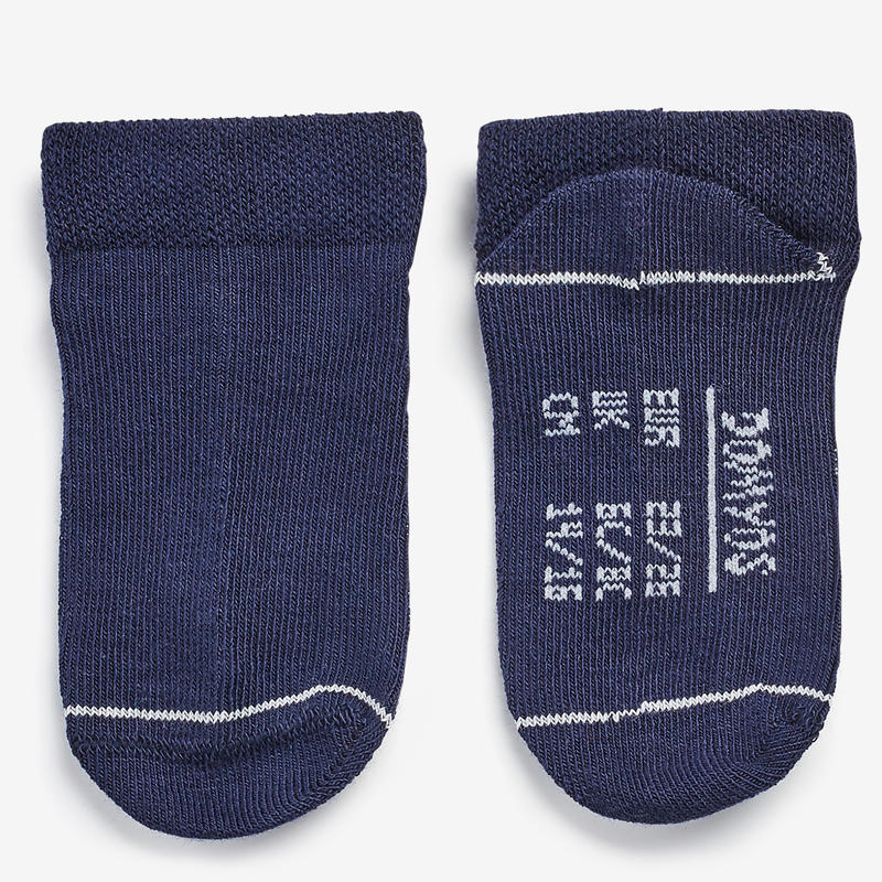 Low Gym Socks 100 Twin-Pack - White/Navy