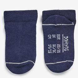 Sokken voor kleutergym 100 low set van 2 paar wit/marineblauw