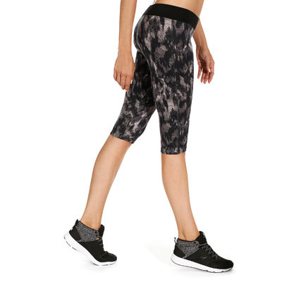 Essential Women's Fitness Cropped Bottoms with Speckled Print