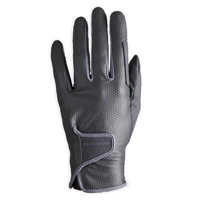 500 Women's Horse Riding Gloves - Black