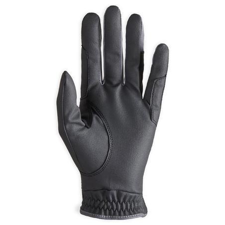 500 Women's Horseback Riding Gloves - Black