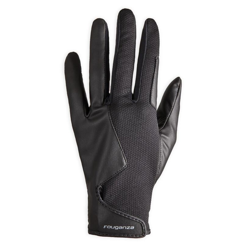 560 Women's Horse Riding Gloves - Black