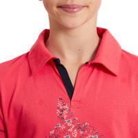 Horse Riding Short-Sleeved Polo Shirt 100 - Pink