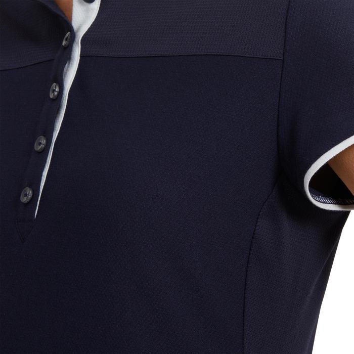 Polo met korte mouwen voor dames ruitersport 500 marineblauw