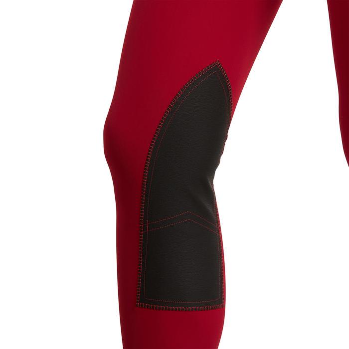 Legging équitation femme framboise 100 LIGHT