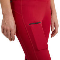 Women's Equestrian Jodhpurs 100 Light - Raspberry