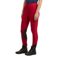Leggings équitation femme 100 LIGHT framboise