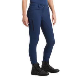 Paardrijbroek voor dames 580 Light Fullgrip blauw