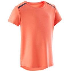 T-shirt 500 Baby Gym fille et garçon Orange
