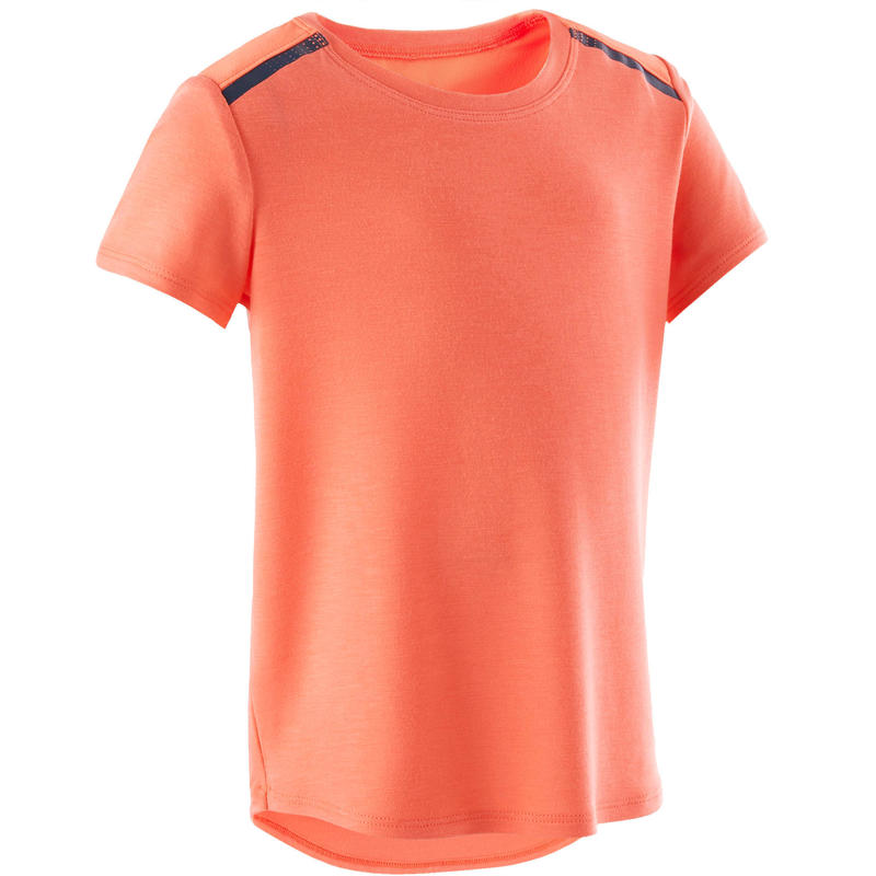 Ademend en licht T-shirt voor kleutergym oranje