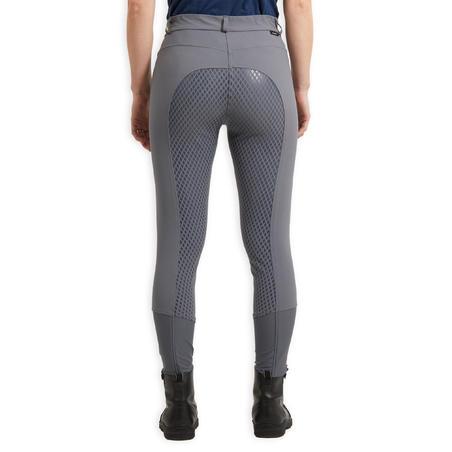 Pantalon équitation femme 580 LIGHT FULLGRIP  gris
