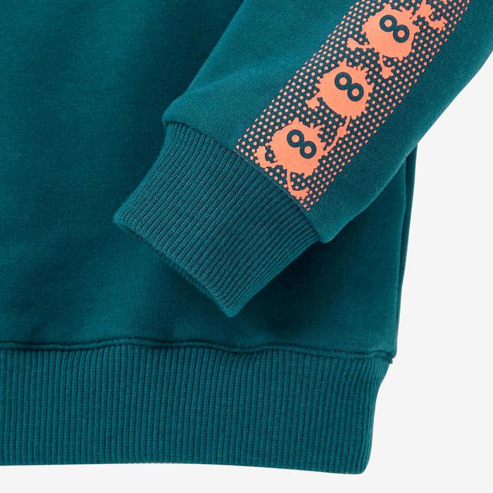 Sweater voor kleutergym 100 petrolblauw