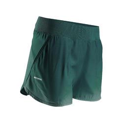 女款網球短褲SH Dry 500-綠色