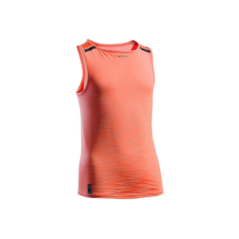 Camiseta Sin Mangas Tenis Artengo TTK900 Niña Coral