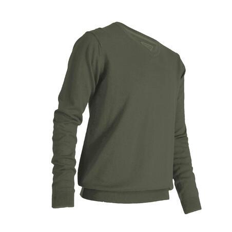 Vīriešu V veida kakla pulovers, haki