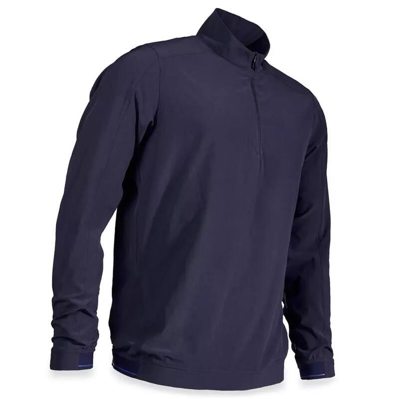 PÁNSKÉ GOLFOVÉ OBLEČENÍ DO DEŠTIVÉHO POČASÍ Golf - PÁNSKÁ VĚTROVKA RW500 MODRÁ INESIS - Golfové oblečení