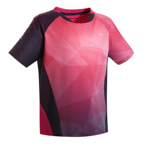 MAILLOT BADMINTON JUNIOR 560 - MARINE/ROSE
