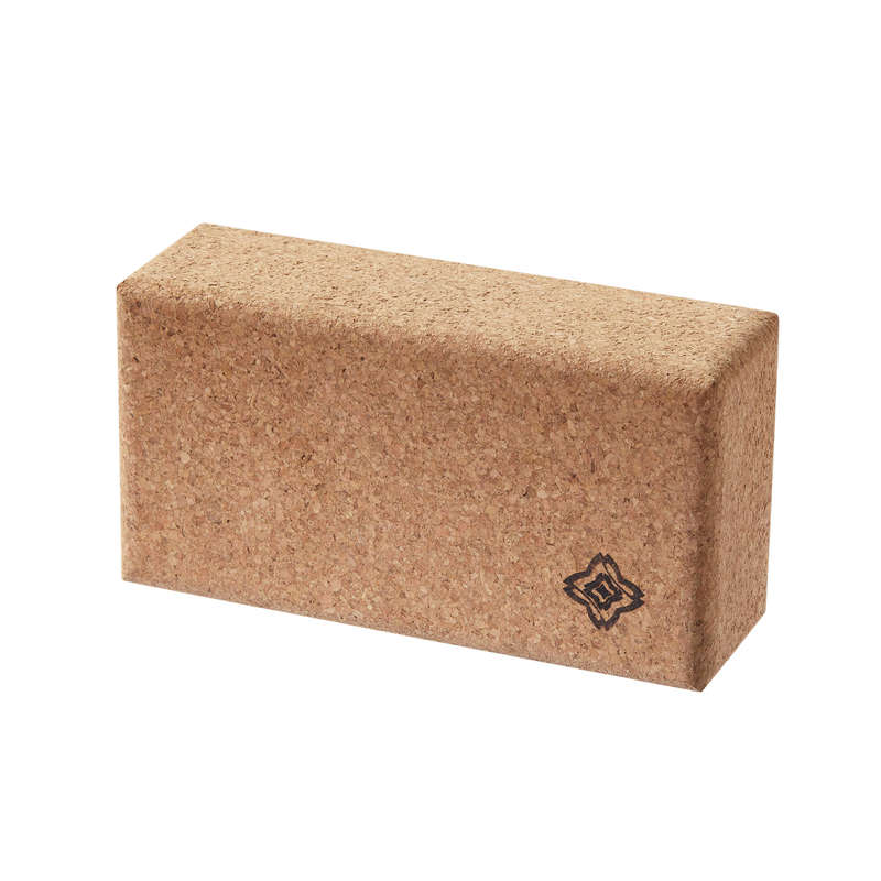 YOGA ACCESSORIES Yoga - Eco-Designed Cork Yoga Brick DOMYOS - Yoga