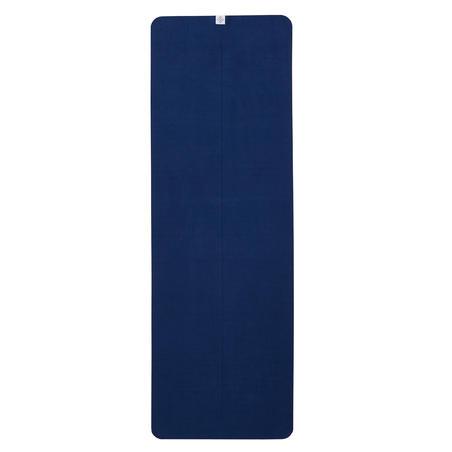Handuk Yoga Anti Selip - Abu-abu/Biru