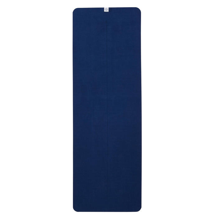 Non-Slip Yoga Towel - Grey/Blue