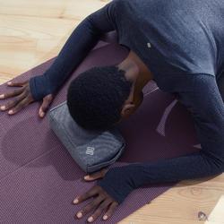 Yogablok/meditatiekussen in zacht textiel grijs