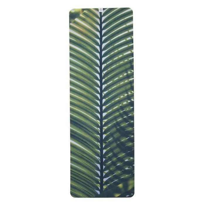 Antislip handdoek voor yoga palmboomprint