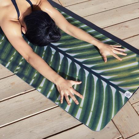 Handuk Yoga Anti Selip - Bermotif Daun Palem