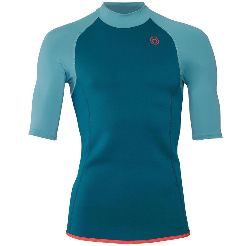 Men's short-sleeve neoprene top 100 - turquoise