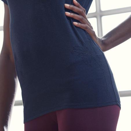 חולצת טי לנשים ליוגה מכותנה אורגנית - שחור