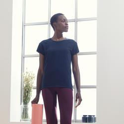 Camiseta Manga Corta Yoga Mujer ecodiseñada negro