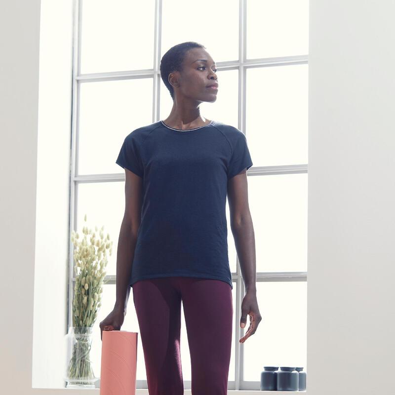 Camiseta Mujer Manga Corta Oversize Yoga Ecofriendly Negro