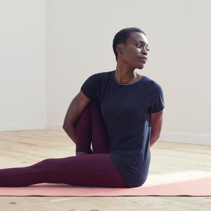 T-shirt voor zachte yoga dames biologisch katoen zwart