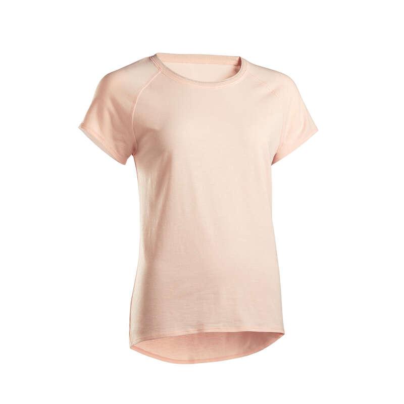 ABBIGLIAMENTO YOGA DONNA Yoga - T-shirt donna yoga rosa DOMYOS - Abbigliamento yoga