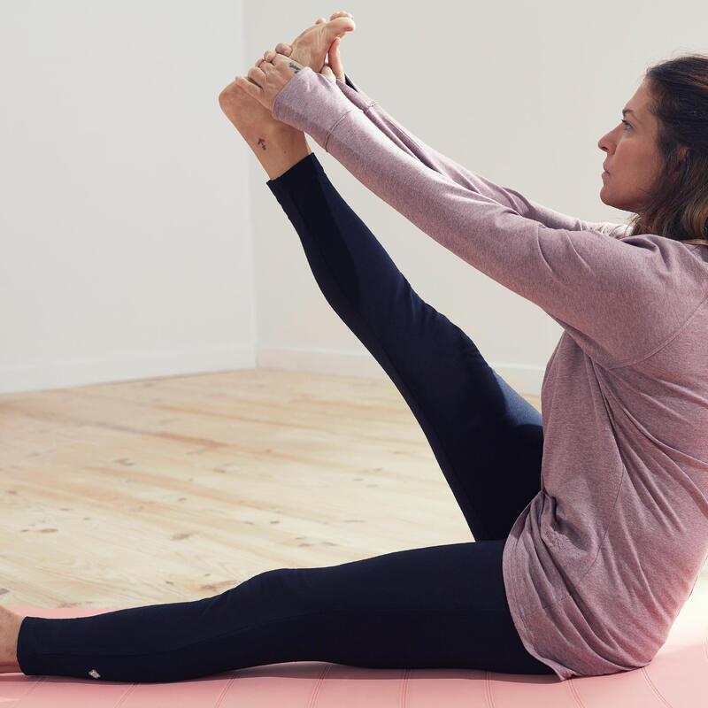 Mallas leggings comfort yoga embarazada ecofriendly negro gris