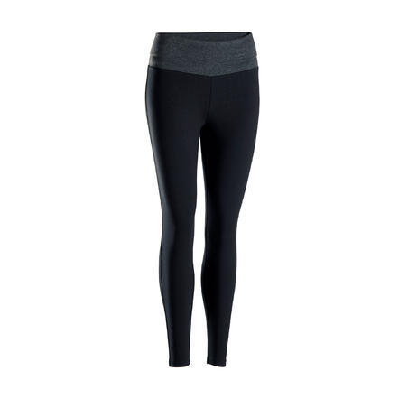 Leggings Yoga premamá ecodiseñados negro gris