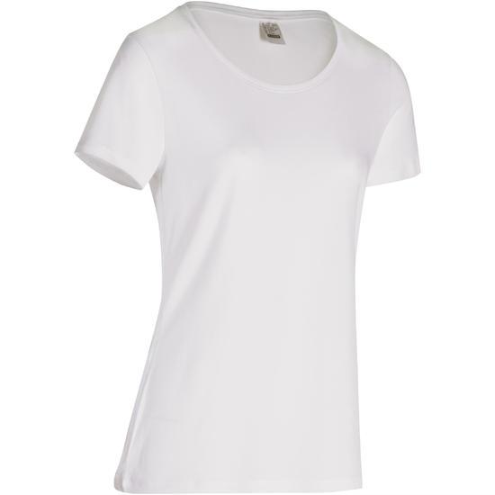 Dames T-shirt met korte mouwen voor gym en pilates, regular fit, gemêleerd - 178646
