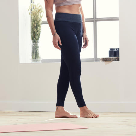Women's Organic Cotton Gentle Yoga Leggings - Black/Grey