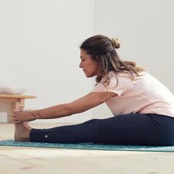 Women's Gentle Yoga Cotton Leggings - Grey/Pink
