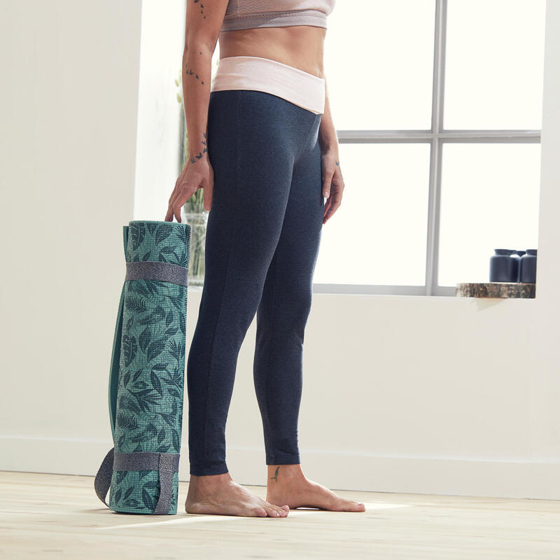 Women's Eco-Friendly Gentle Yoga Leggings - Grey/Pink