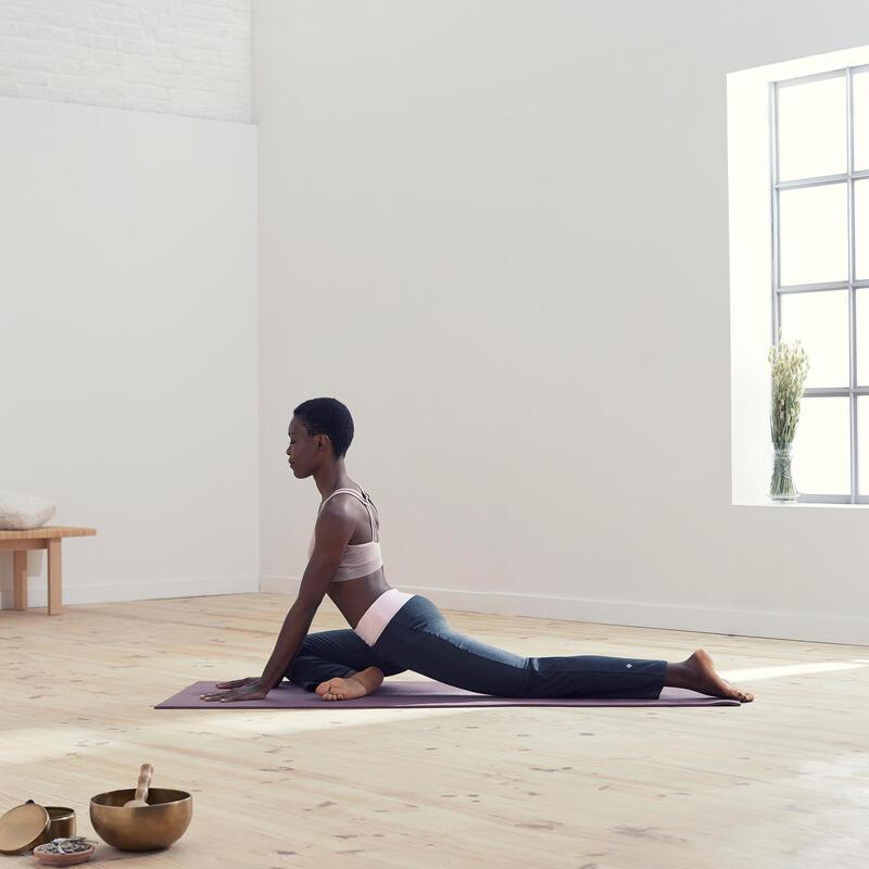 Pantalones anchos comfort yoga embarazada ecofriendly gris rosa