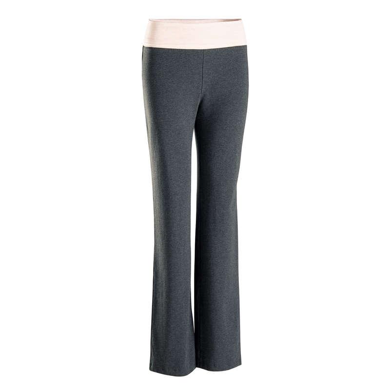 ЙОГА ЖЕН. Спортивные штаны - Брюки жен. серые DOMYOS - Спортивные штаны