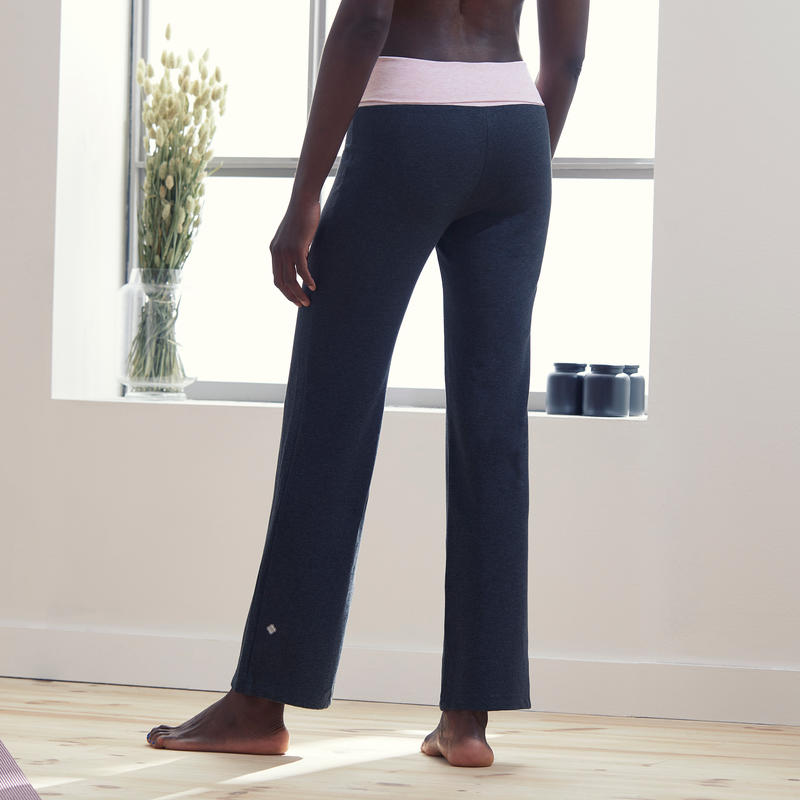 Pantalones Premamá Yoga Mujer Algodón Bio Gris Rosa