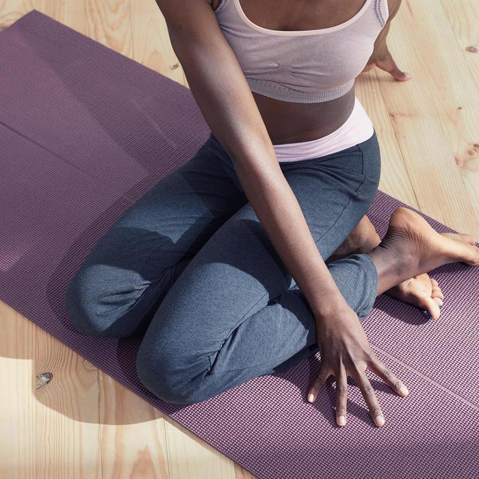 女款舒緩瑜珈有機棉長褲 - 灰色/粉色