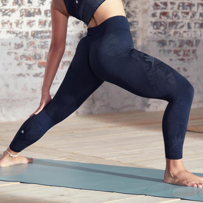 Seamless 7/8 Yoga Leggings - Black/Anthracite