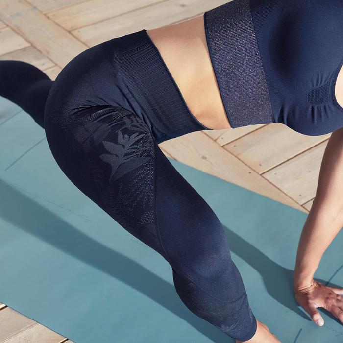 無縫7/8分瑜珈緊身褲 - 黑色/碳黑色