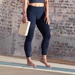 Malla yoga mujer leggins 7/8 Domyos negro gris